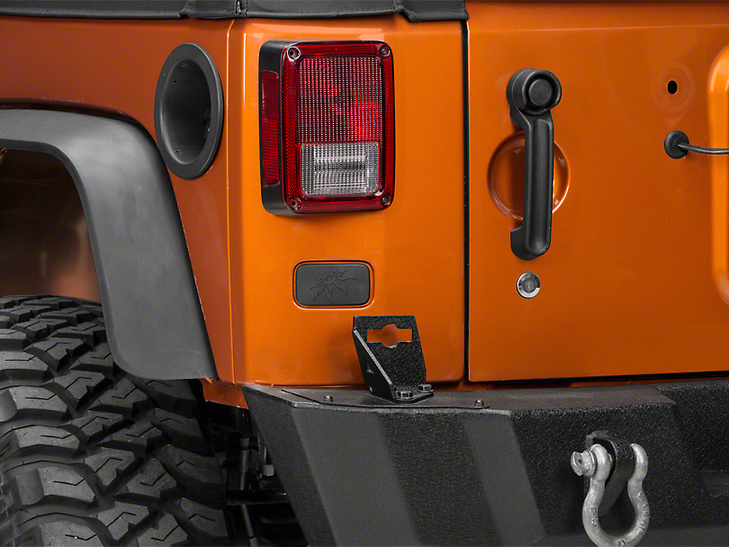 Poison Spyder Rear License Plate Delete Cover (07-18 Jeep Wrangler JK)
