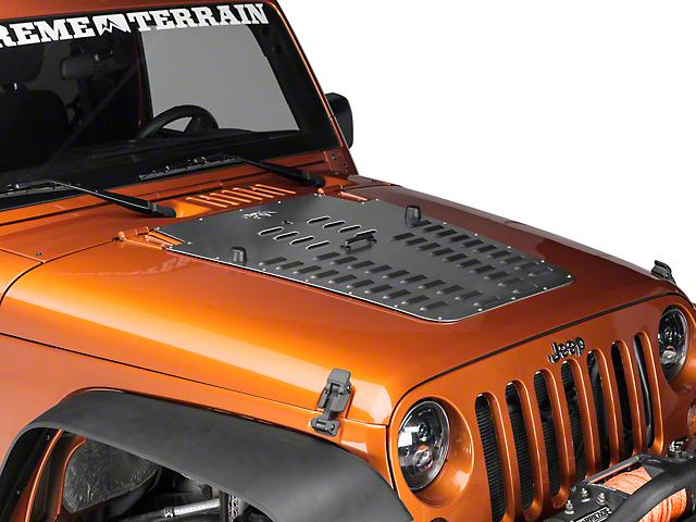Poison Spyder Hood Louver; Bare Steel (07-12 Jeep Wrangler JK)