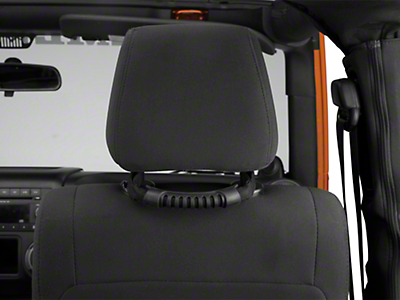 Poison Spyder Rear Headrest Grab Handles - Black (07-18 Jeep Wrangler JK; 2018 Jeep Wrangler JL)