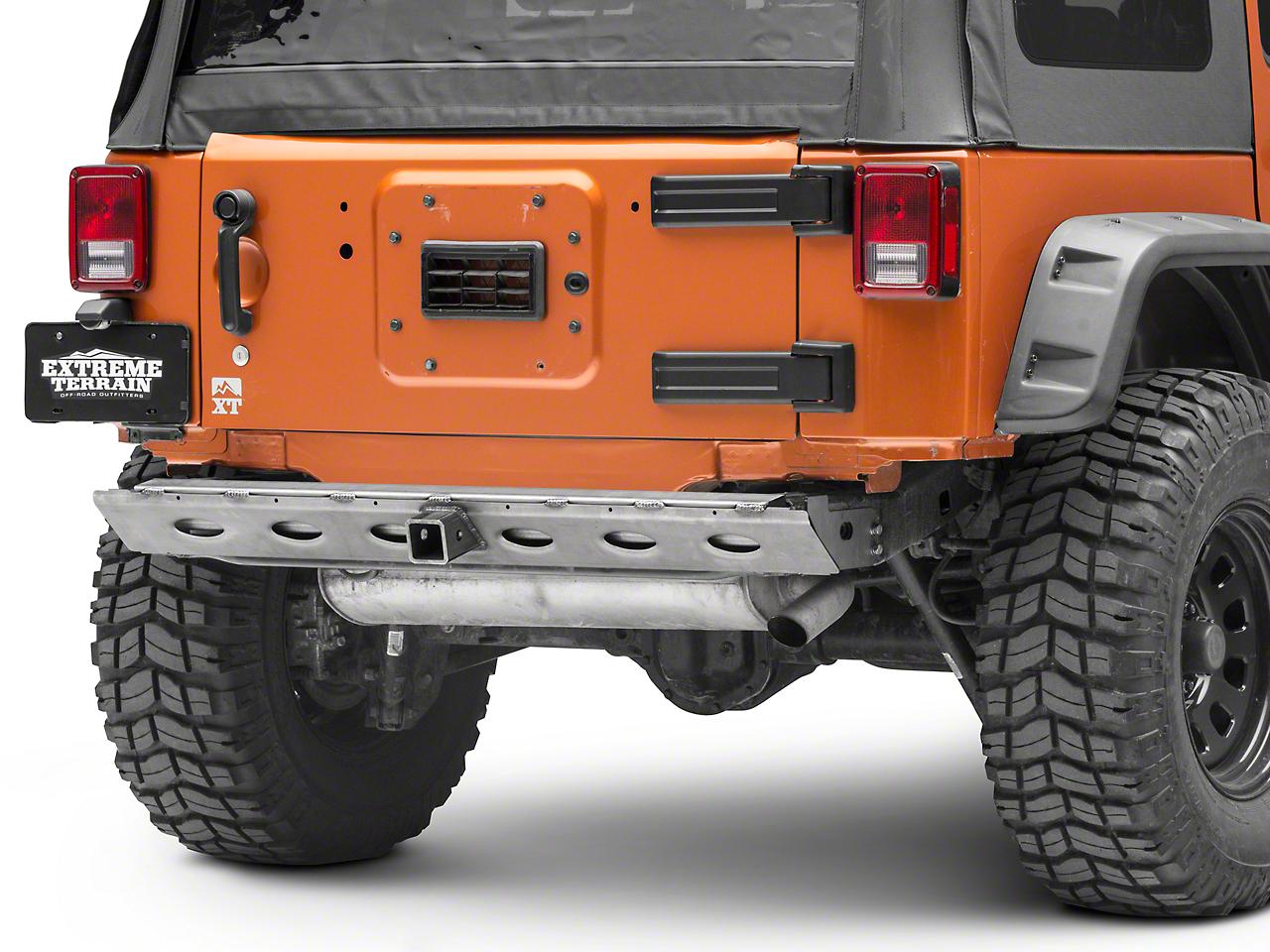 Poison Spyder BFH II Rear Crossmember w/ Hitch - Bare Steel (07-18 Jeep Wrangler JK)