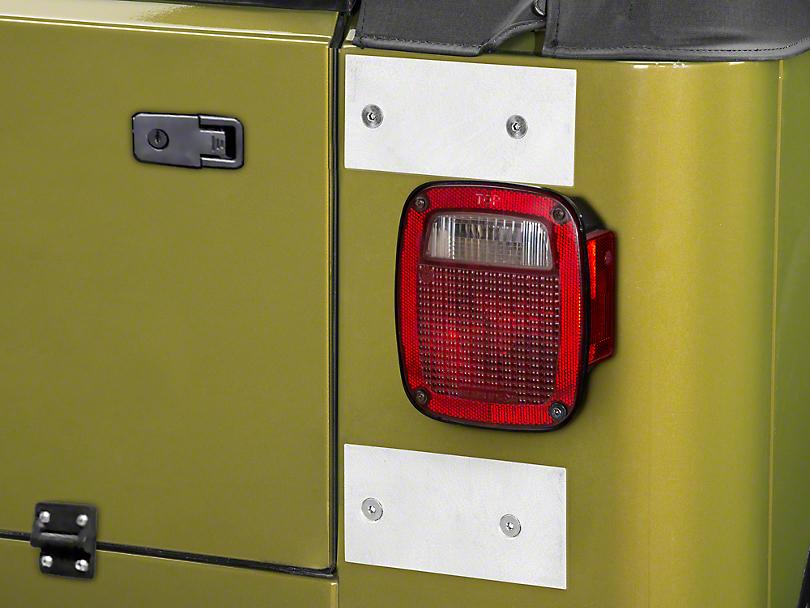 Poison Spyder Tailgate Hinge Delete Plates (97-06 Jeep Wrangler TJ)