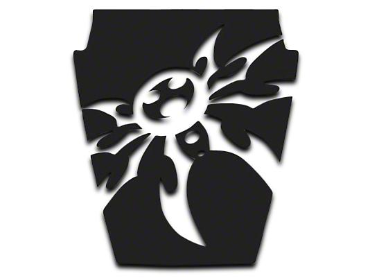 Poison Spyder Mountain Spyder Hood Decal - Black (87-95 Wrangler YJ)