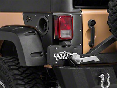 Poison Spyder Trail Corner Guards w/ OEM Tail Light Cutouts - SpyderShell Armor Coat (07-18 Wrangler JK 4 Door)