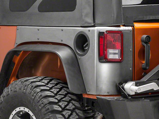 Poison Spyder Crusher Corner Guards w/o Light Cutouts - Bare Steel (07-18 Jeep Wrangler JK)