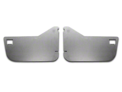 Poison Spyder Crawler Door Skins for Bestop Soft Half Doors - Bare Steel (87-06 Wrangler YJ & TJ)