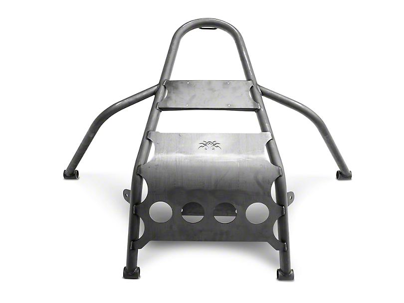 Poison Spyder Rear Stinger Tire Carrier - Bare Steel (97-06 Jeep Wrangler TJ)