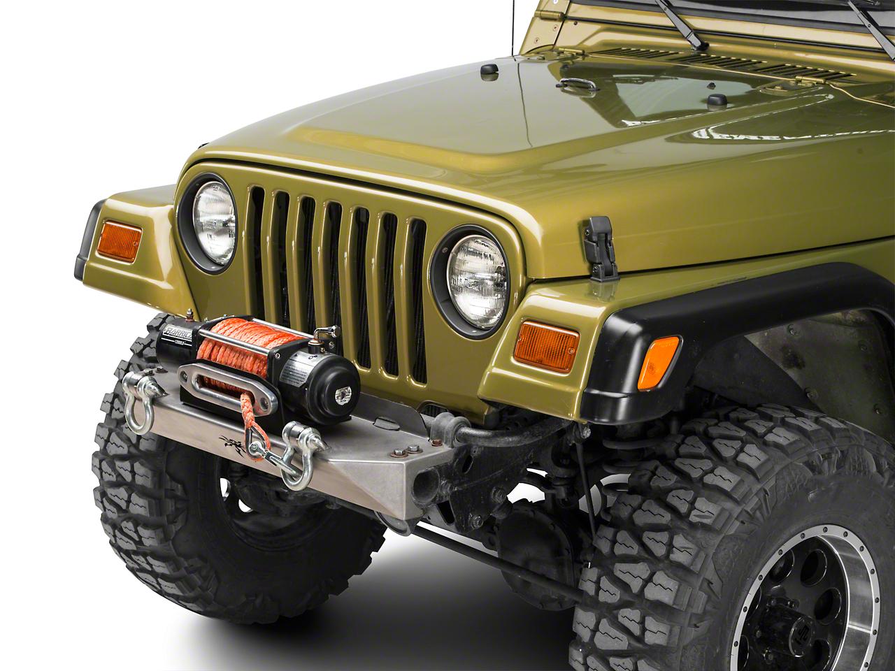 Poison Spyder BFH Front Bumper w/ Shackle Tabs - Bare Steel (97-06 Wrangler TJ)