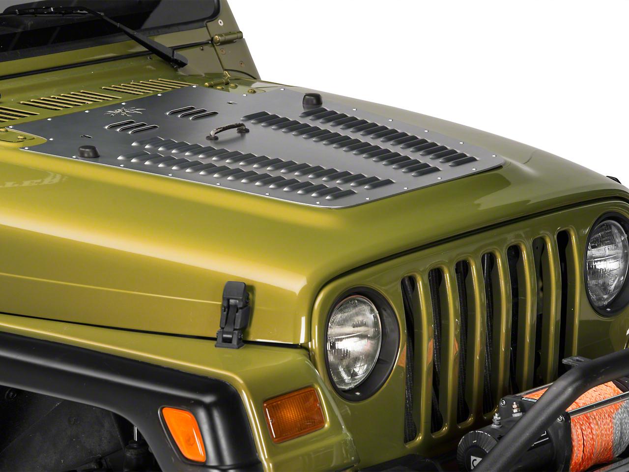 Poison Spyder Hood Louver - Bare Aluminum (97-06 Jeep Wrangler TJ)