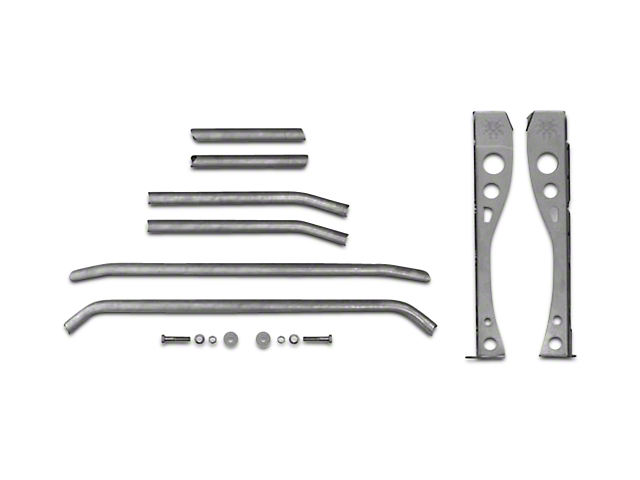 Poison Spyder Trail Cage Kit for Factory Roll Bars (97-06 Wrangler TJ)