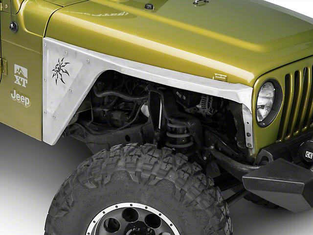 Poison Spyder DeFender XC Spyder Side Inserts; Bare Aluminum (97-06 Jeep Wrangler TJ)