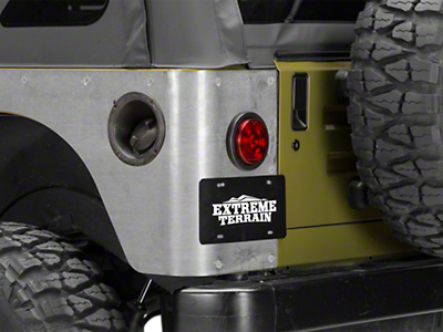 Poison Spyder Standard Crusher Corner Guards - Bare Steel (97-06 Jeep Wrangler TJ)