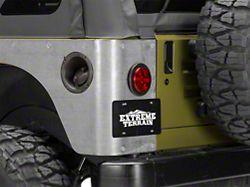 Poison Spyder Standard Crusher Corner Guards; Bare Steel (97-06 Jeep Wrangler TJ)