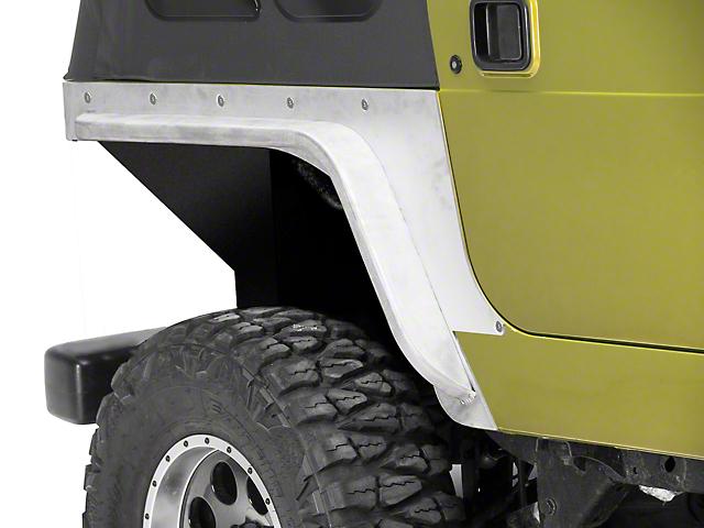 Poison Spyder Comp Cut Crusher Corner Guards w/ 3 in. DeFender Flares - Bare Steel (97-06 Jeep Wrangler TJ)