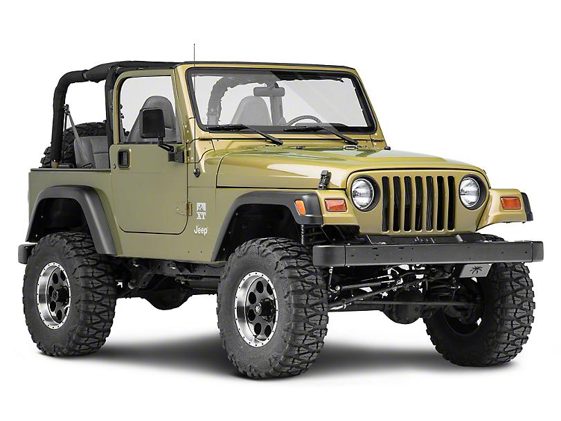 Poison Spyder Steering Box Skid Plate - Satin Black (97-06 Jeep Wrangler TJ)
