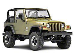 Poison Spyder Steering Box Skid Plate; Satin Black (97-02 Jeep Wrangler TJ)
