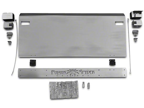 Poison Spyder Trail Gate - Bare Aluminum (87-95 Jeep Wrangler YJ)