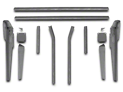 Poison Spyder Trail Cage Kit for Factory Roll Bars (87-95 Wrangler YJ)
