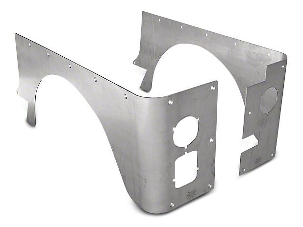 Poison Spyder Standard Crusher Corner Guards - Bare Aluminum (87-95 Wrangler YJ)