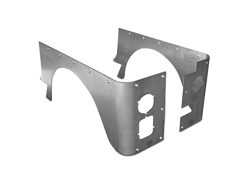 Poison Spyder Standard Crusher Corner Guards - Bare Steel (87-95 Wrangler YJ)