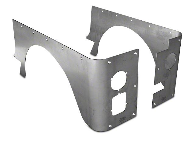 Poison Spyder Standard Crusher Corner Guards - Bare Steel (87-95 Wrangler YJ)