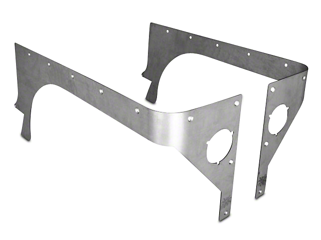 Poison Spyder Comp Cut Crusher Corner Guards - Bare Steel (87-95 Wrangler YJ)
