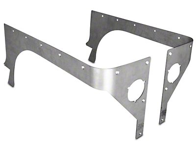 Poison Spyder Comp Cut Crusher Corner Guards - Bare Aluminum (87-95 Wrangler YJ)