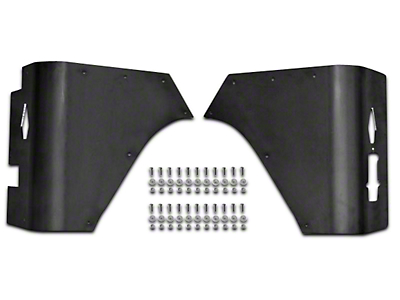 Poison Spyder Trail Corner Guards w/ OEM Tail Light Cutouts - Black (87-95 Wrangler YJ)