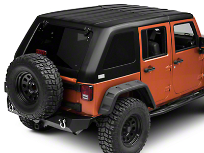 American Fastback Freedom Fastback Targa Hard Top - Textured Black (07-18 Wrangler JK 4 Door)