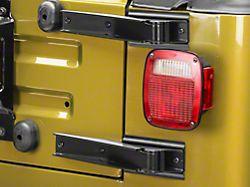 Rugged Ridge Tailgate Hinge Set - Black (97-06 Jeep Wrangler TJ)