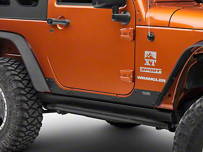 Rugged Ridge Steel Body Armor Cladding - Textured Black (07-18 Wrangler JK 2 Door)