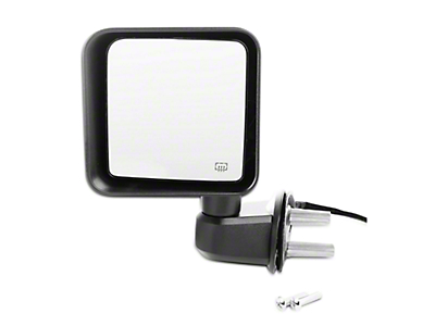 Omix-ADA Replacement Power & Heated Mirrors - Black (15-18 Jeep Wrangler JK)