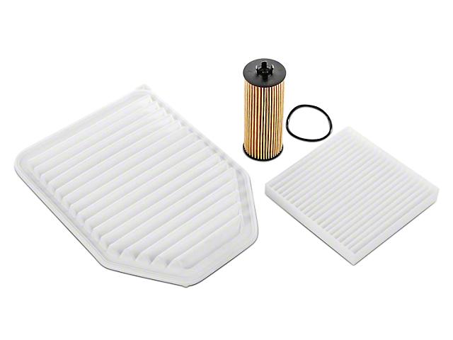 Oil, Air, & Cabin Filter Kit (12-18 3.6L Jeep Wrangler JK)