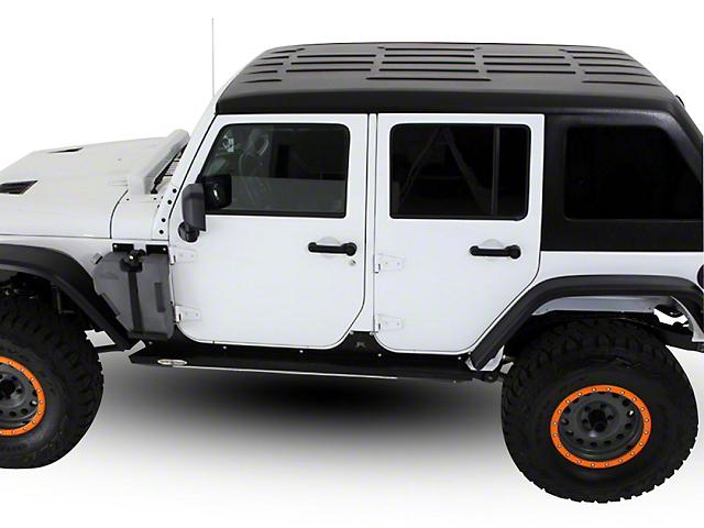 Patriot Fastbacks Victory Fastback Solid Hard Top; Textured Black (07-18 Jeep Wrangler JK 4 Door)