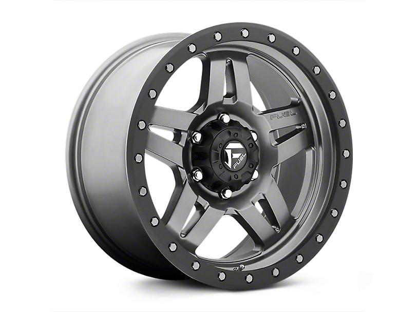 Fuel Wheels ANZA Matte GunMetal Wheels (07-18 Jeep Wrangler JK; 2018 Jeep Wrangler JL)