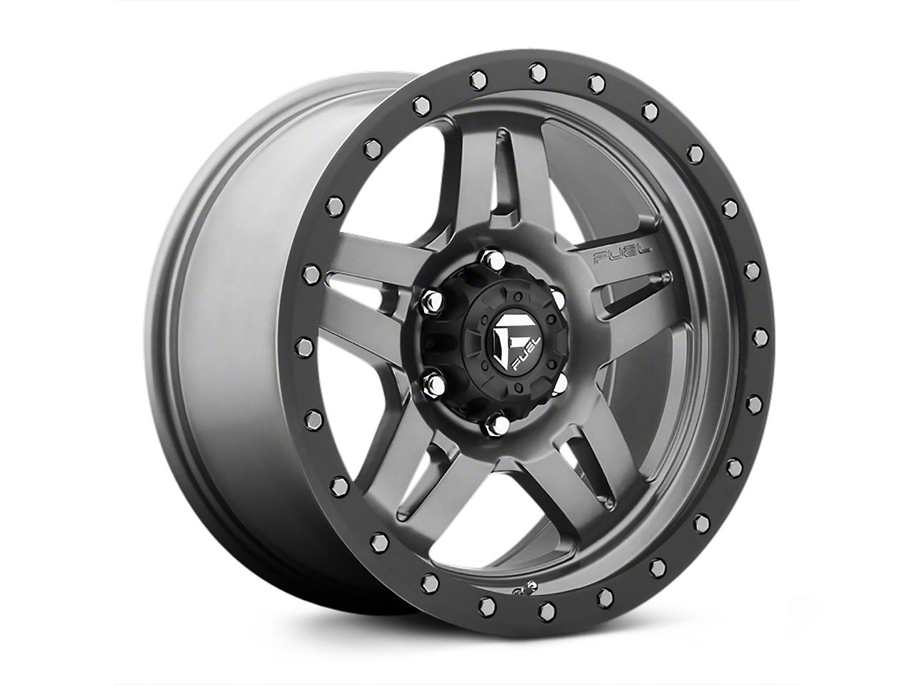 Fuel Wheels ANZA Matte GunMetal Wheels (07-18 Wrangler JK; 2018 Wrangler JL)