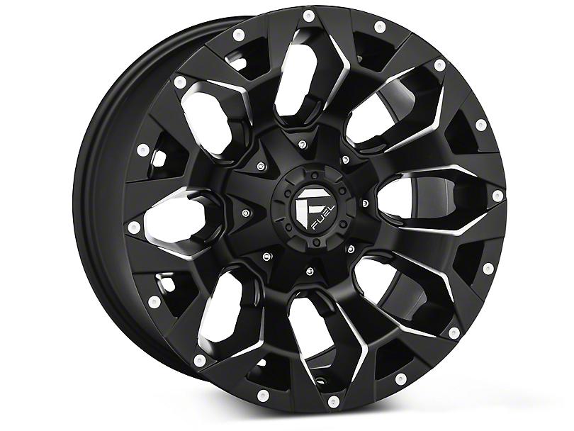 Fuel Wheels Assault Black Machined Wheels (07-18 Wrangler JK; 2018 Wrangler JL)