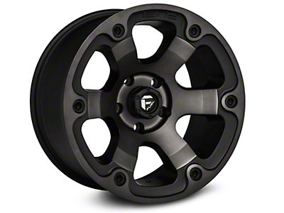 Fuel Wheels Beast Black Machined Wheels (07-18 Jeep Wrangler JK; 2018 Jeep Wrangler JL)