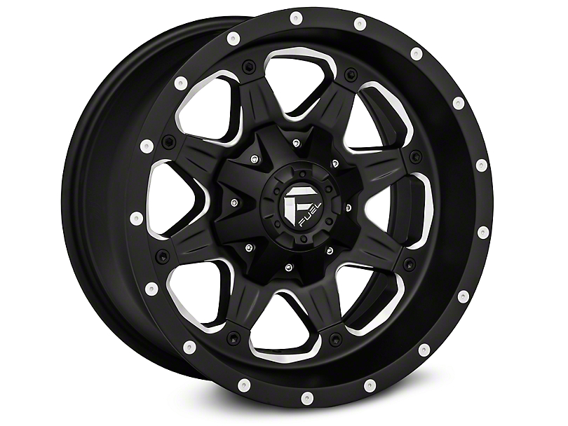 Fuel Wheels Boost Black Machined Wheels (07-18 Wrangler JK)