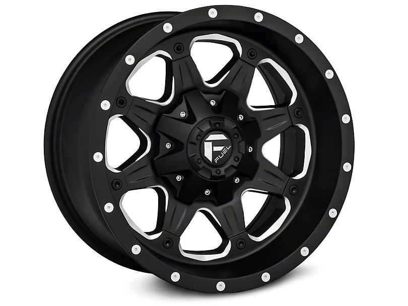 Fuel Wheels Boost Black Machined Wheels (07-18 Wrangler JK; 2018 Wrangler JL)