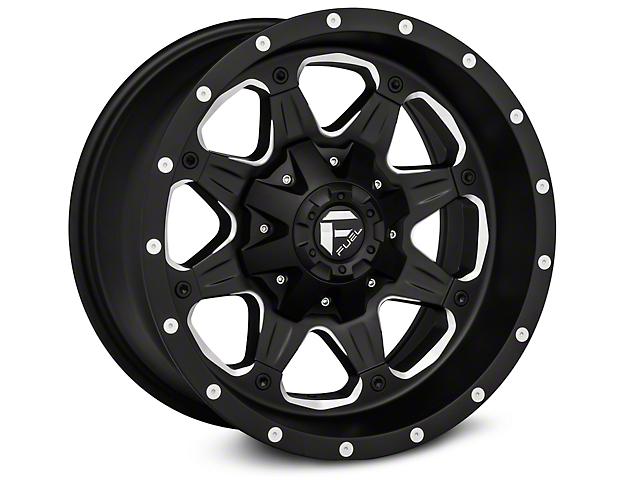 Fuel Wheels Boost Black Milled Wheels (07-18 Jeep Wrangler JK; 2018 Jeep Wrangler JL)