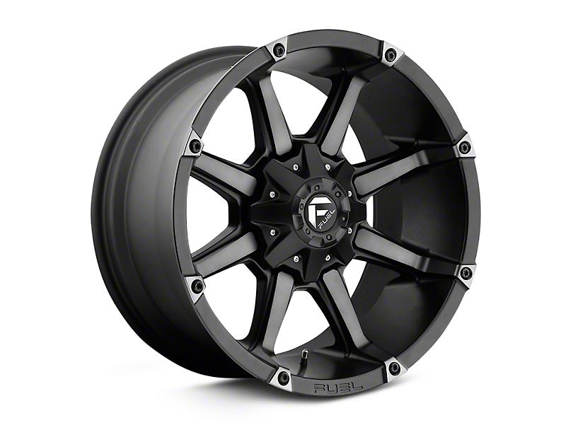 Fuel Wheels Coupler Black Machined Wheels (07-18 Jeep Wrangler JK; 2018 Jeep Wrangler JL)