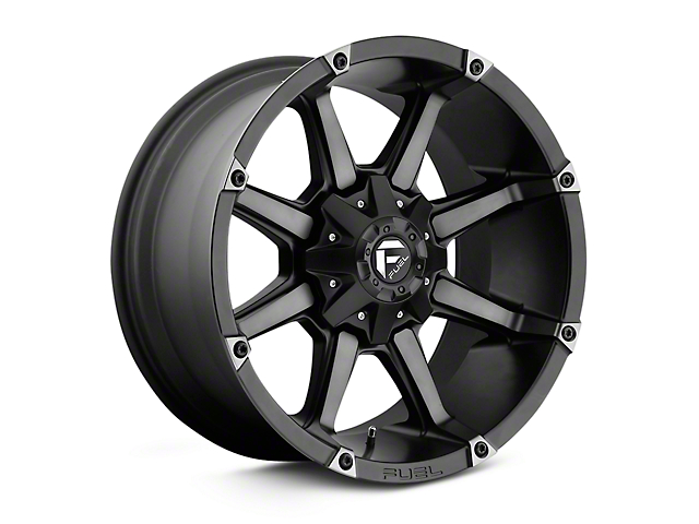 Fuel Wheels Coupler Black Machined Wheels (07-18 Wrangler JK; 2018 Wrangler JL)