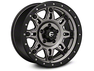 Fuel Wheels Hostage III Gunmetal & Black Wheels (07-18 Wrangler JK; 2018 Wrangler JL)