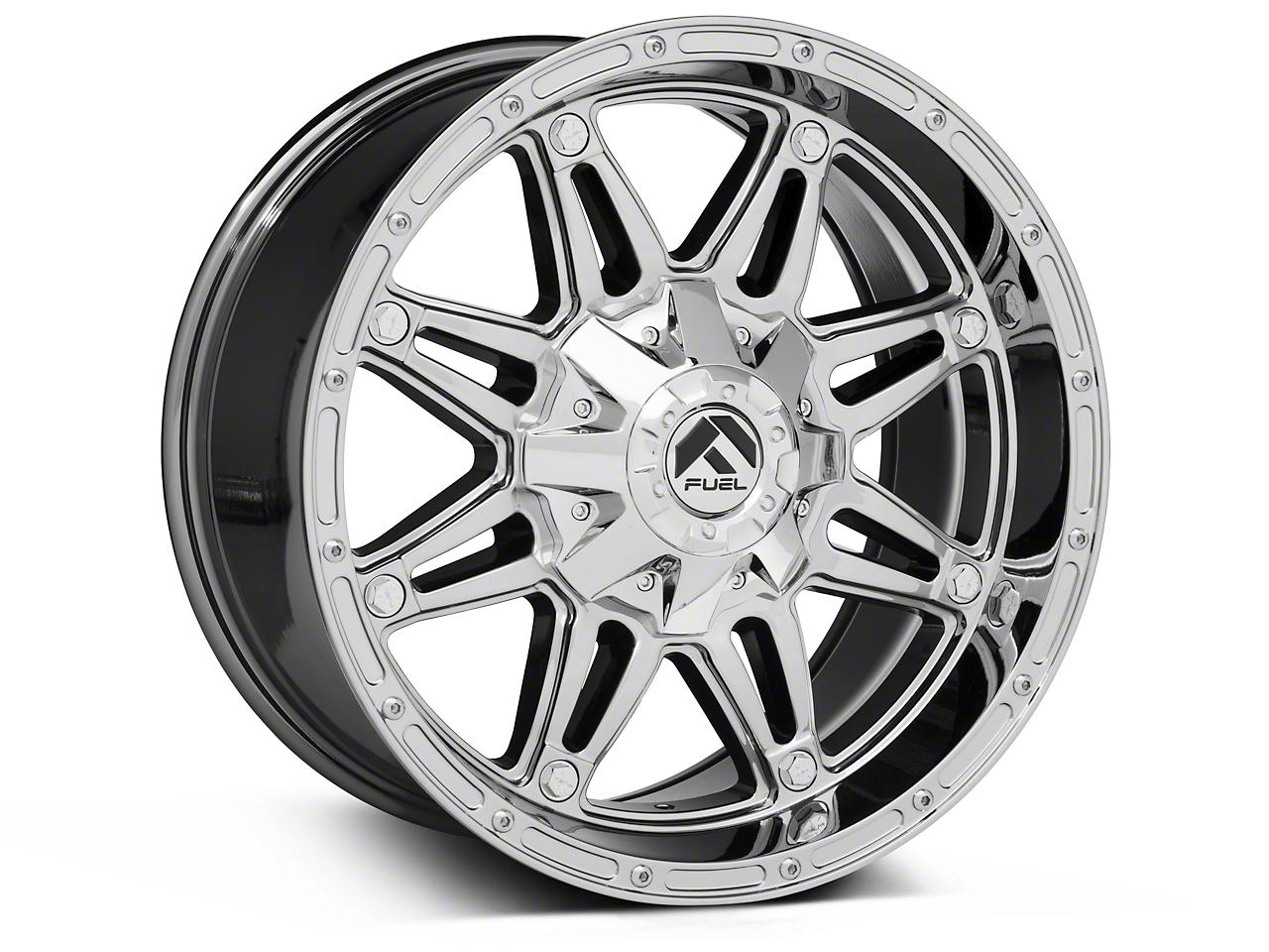 Fuel Wheels Hostage Chrome Wheels (07-18 Wrangler JK; 2018 Wrangler JL)