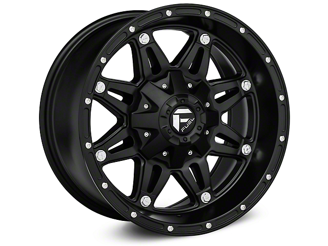 26bf022ba55 Fuel Wheels Jeep Wrangler Hostage Matte Black Wheels J108325 (07-18 ...
