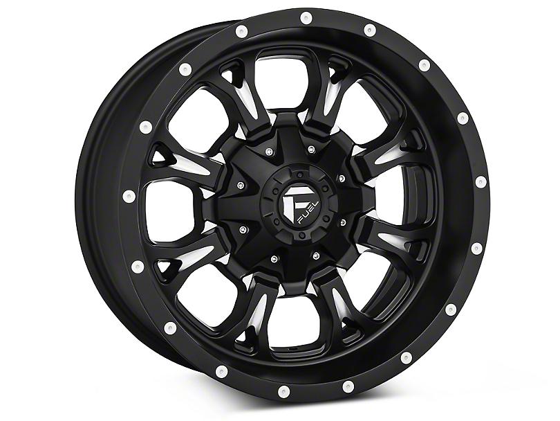 Fuel Wheels Krank Black Machined Wheels (07-18 Wrangler JK)