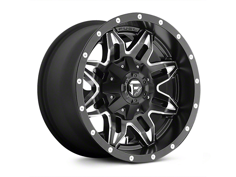 Fuel Wheels Lethal Black Milled Wheels (07-18 Jeep Wrangler JK; 2018 Jeep Wrangler JL)