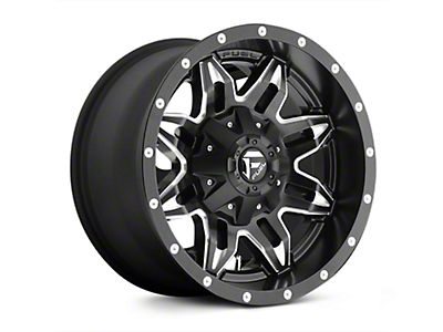 Fuel Wheels Lethal Black Milled Wheels (07-18 Wrangler JK; 2018 Wrangler JL)