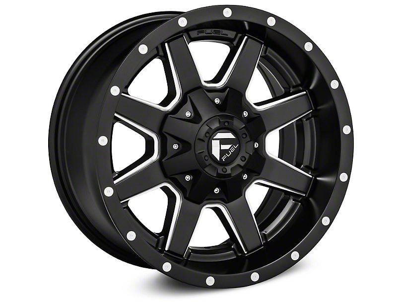 Fuel Wheels Maverick Black Machined Wheels (07-18 Wrangler JK)