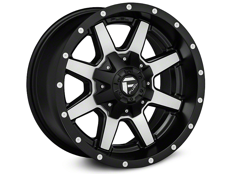 2e6acb2b91f Fuel Wheels Jeep Wrangler Maverick Black Machined Wheels J108330 (07-18 Jeep  Wrangler JK)
